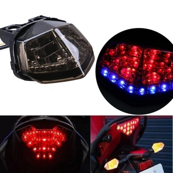 Possbay 1Pcs LED Smoke Tail Light Brake Turn Signal For Kawasaki Ninja 250R - intl