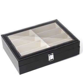 PVC 8 Slots Sunglasses Glasses Case Eyewear Box Eye Glasses Display Holder Storage Organizer Container