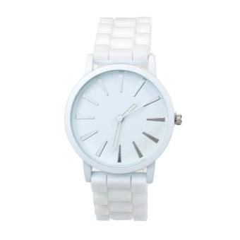 Quartz Watches For Men And Women Fashion Trade Hollow Needle WatchWhite - intl