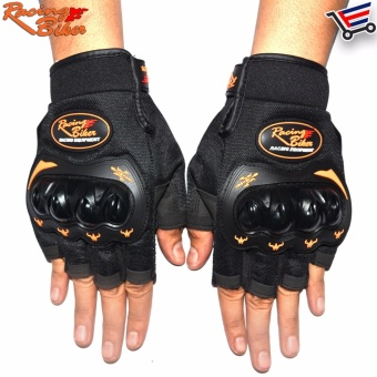 Racing Bike Motorcycle Sports Non Slip Racing Gloves Open Finger -M (Black) Price Philippines