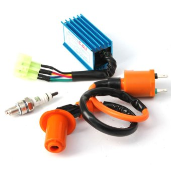Racing Ignition Coil+Spark Plug+CDI Box For GY6 50cc-150cc 4-Stroke Engines ATV (Multicolor) Price Philippines
