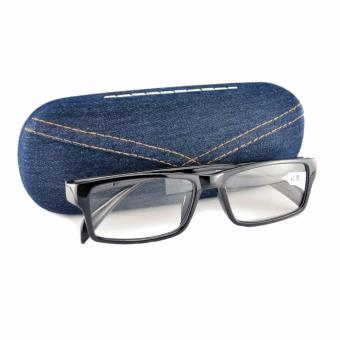 Reading Eye Glasses + 1.75 with Case (Black)