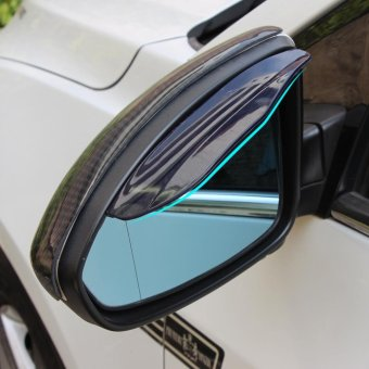 Rear Mirror Rain Board Eyebrow Visor Shield Rain Shade (Black) -intl