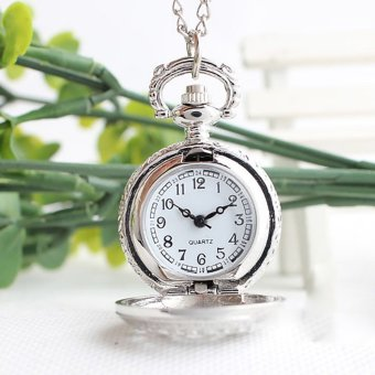 Retro Spider Webs Pocket Watch Necklace Fashion Jewelry Pendant Watch