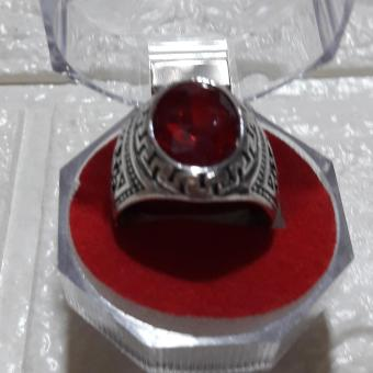Ring with Charm stone RUBY size 9 hypoallergenic