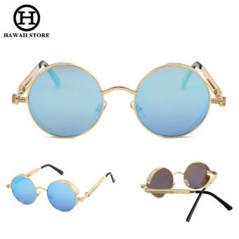 Round Metal Sunglasses Steampunk Men Women Fashion Glasses Brand Designer Retro Vintage Sunglasses UV400 - intl Price Philippines