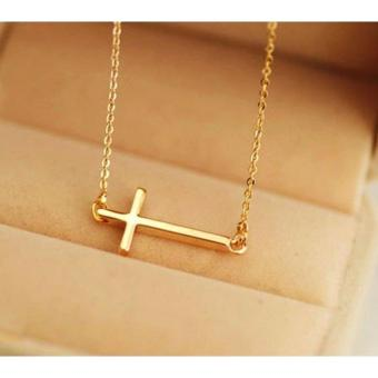 Rukia Tiny Gold Side Cross Necklace Price Philippines