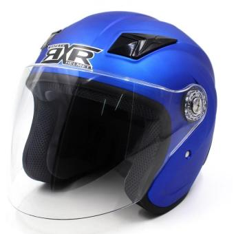 RXR 007 Open Face Motorcycle Helmet (Flourescent Blue)