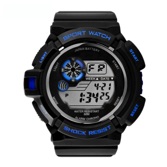 S-Shock Men's Blue/Black Rubber Strap Watch SKM-0939