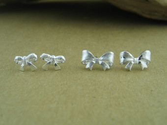 S925 brushed female plain silver stud sterling silver stud