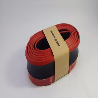 SAMURAI Rubber Lip Skirt Rubber Chin Protector (BLACK WITH RED LINING)