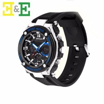 Sanda 733 Men Sport Digital Waterproof Analog Wrist Watch(Blue)
