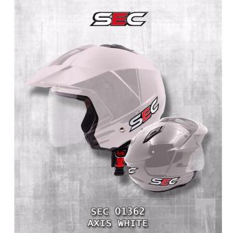 SEC 01362 Axis White Open Face Helmet