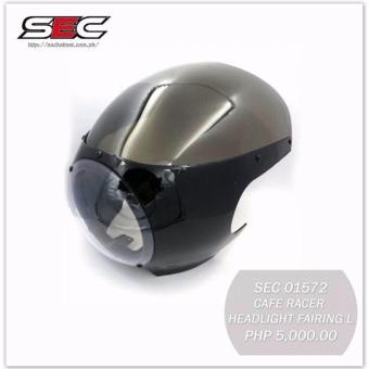 Sec 01572 Motorcycle Cafe Racer Headlight Fairing Large