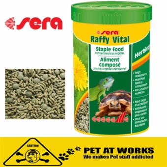 Sera Raffy Vital Turtle or Reptile Food (1000ml) For Pets TurtleFood tortoises and other herbivorous reptiles. Price Philippines