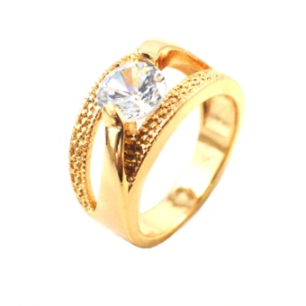 Sh jewels diamoand like cubic zirconia ring 18 k gold plated Price Philippines