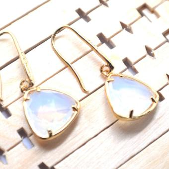 SH Jewels Moonstone Dangling Earrings in 18 kt gold plating Price Philippines