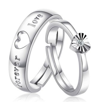Silver Adjustable Couple Rings Jewelry Affectionate Lovers Rings E003 Price Philippines