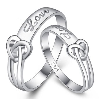 Silver Adjustable Couple Rings Jewelry Affectionate Lovers Rings E010 Price Philippines