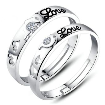 Silver Adjustable Couple Rings Jewelry Affectionate Lovers Rings E011 Price Philippines
