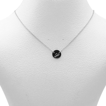 Silverworks X1803 Letter S Necklace (Silver)