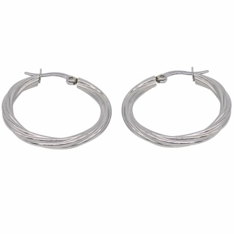 Silverworks X2480 Hoop Earrings (Silver)