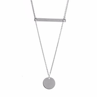 Silverworks X3457 2 Layered Necklace