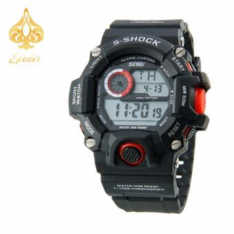 SKMEI 1019 Digital Watch Men Red Wrist Watch