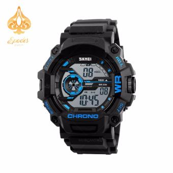 SKMEI 1233 Men Sports Digital Quartz Watch Water Resistant (Blue)