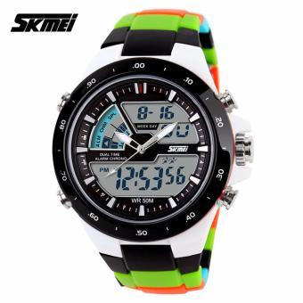 Skmei Colorful Strap Unisex Watch AD1016 (Black)