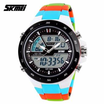 Skmei Colorful Strap Unisex Watch AD1016 (Blue)