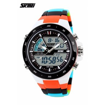 Skmei Colorful Strap Unisex Watch AD1016 (Orange)