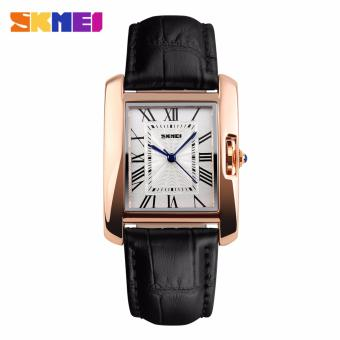 Skmei Leather Strap Women's Watch 1085 (Black) Price Philippines