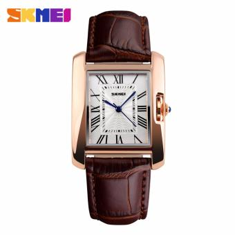 Skmei Leather Strap Women's Watch 1085 (Brown) Price Philippines