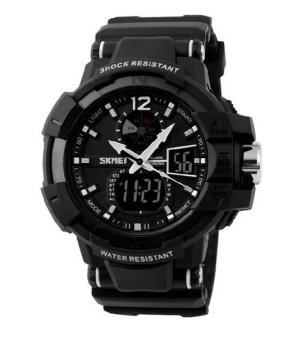 SKMEI Men's Black Rubber Strap Watch 1040