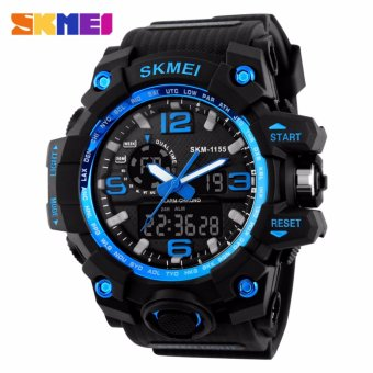 Skmei Silicone Strap Men's Watch AD1155 (Black/Blue) Price Philippines