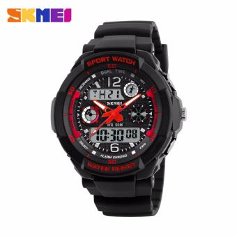 Skmei Silicone Strap Unisex Watch AD1060 (Black/Red) Price Philippines