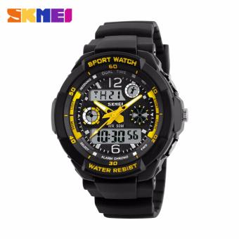 Skmei Silicone Strap Unisex Watch AD1060 (Black/Yellow) Price Philippines