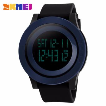 Skmei Silicone Strap Unisex Watch DG1142 (Blue/Black) Price Philippines