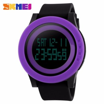 Skmei Silicone Strap Unisex Watch DG1142 (Purple/Black) Price Philippines