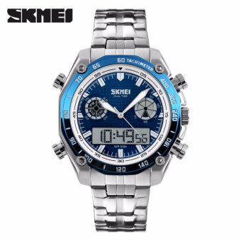 Skmei Stainless Steel Strap Men's Watch 1204 (Blue)