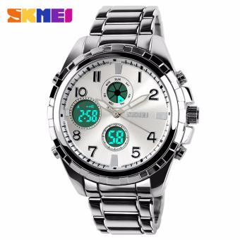 Skmei Stainless Steel Strap Men's Watch AD1021 (Silver)