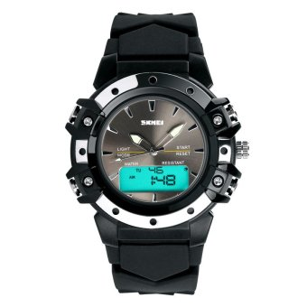 SKMEI Unisex Sport Waterproof Rubber Strap Wrist Watch -Black 0821 Price Philippines