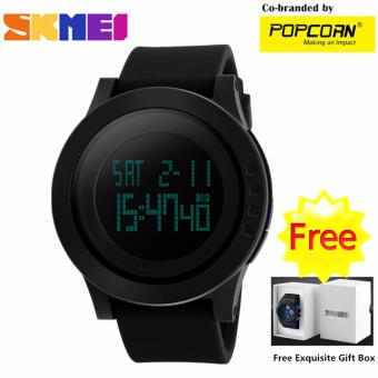 SKMEI WHSK011 Fashion Big LED Dial and Silicone Strap Unisex Waterproof Sport Watch with Free Skmei Gift Box Price Philippines
