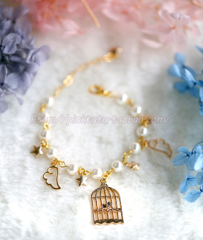 Snow Japanese-style girl's style Pearl bracelet