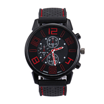 Sports watches silicone big dial watches quartz watches
