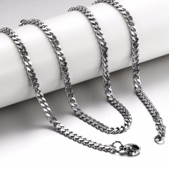 Stainless Steel Chain Necklace Titanium Steel Necklace for Men - intl