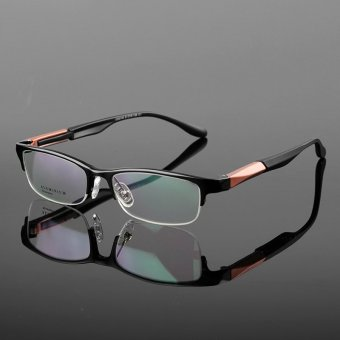 Stallane Myopia Glasses Optical Glasses Frame For Small FaceAluminum Business Spectacle Frames Tr90 Eyeglasses For Men (Black)- Intl