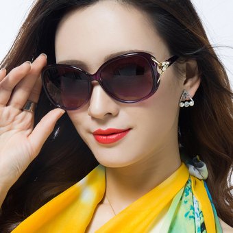 Star female celebrity inspired near-sighted glasses polarized sunglasses