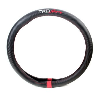 Steering Wheel Cover Car Styling ///TRD Carbon Fiber Leather PU For Toyota auris corolla land cruiser 100 jdm gt86 - intl